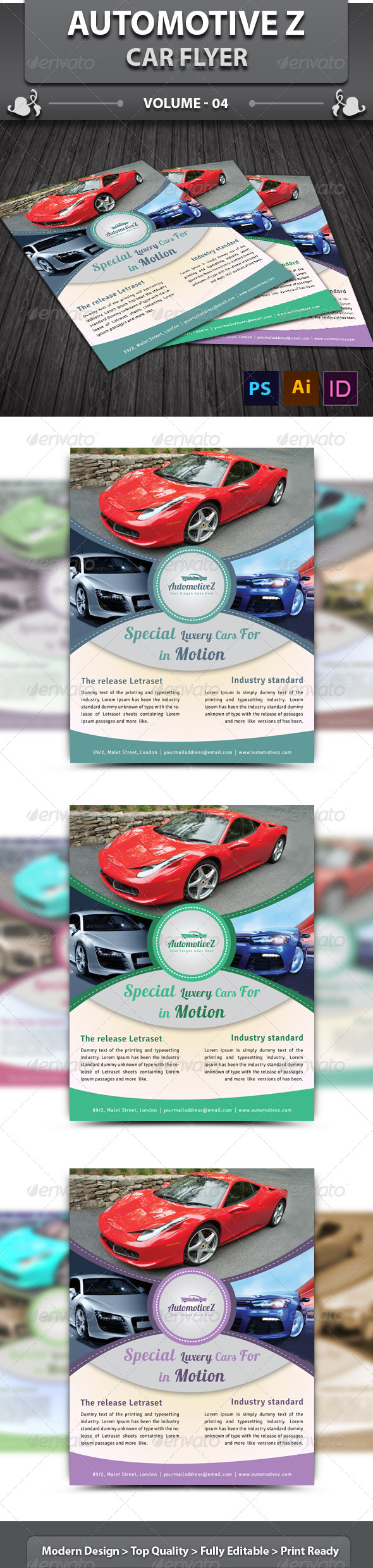 GraphicRiver AutoMotiveZ Car Flyer v4 6436409