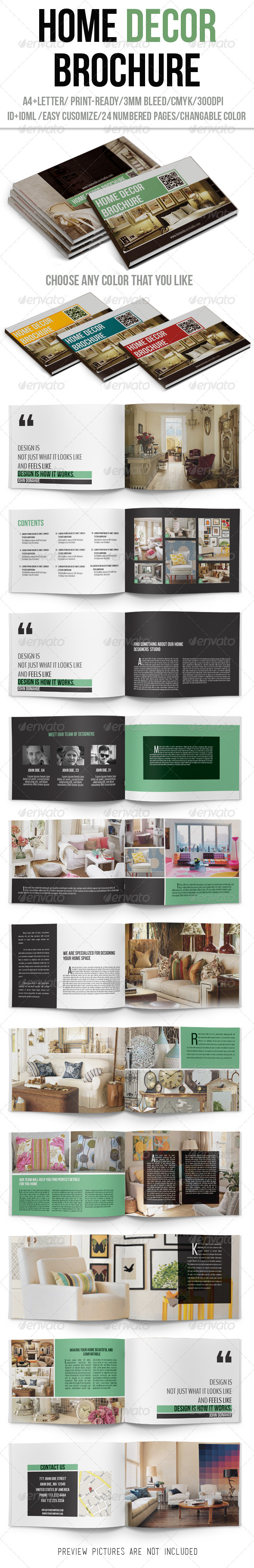 GraphicRiver Home Decor Brochure 6436702