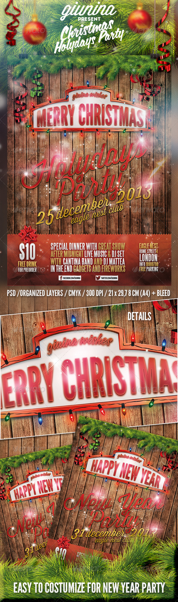GraphicRiver Christmas Holydays Party Flyer Poster 6402417