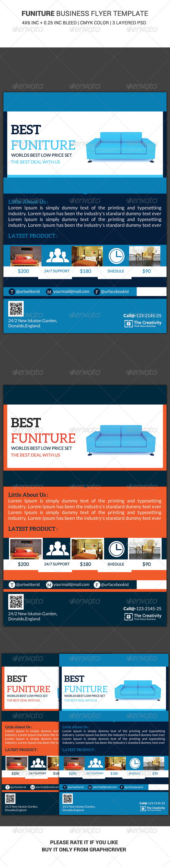 GraphicRiver Furniture Business Flyer Template 6436866