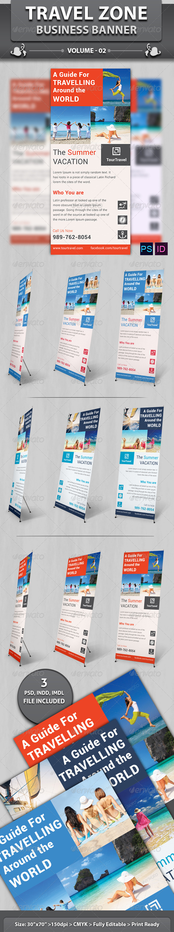 GraphicRiver Travel Zone Business Banner v2 6436961