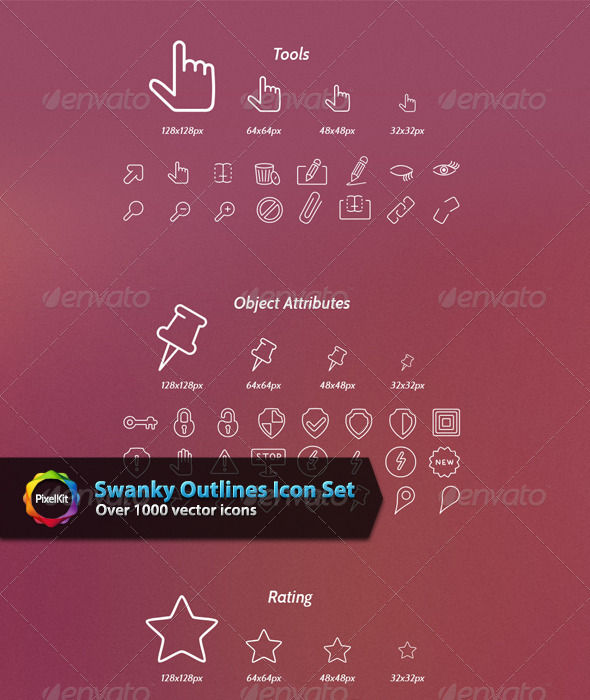 GraphicRiver Swanky Outlines Icon Set 6436985