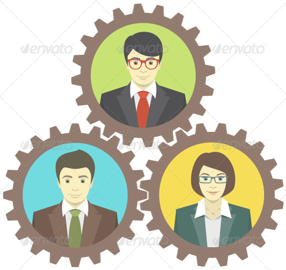 GraphicRiver Mechanism of Teamwork 6437002