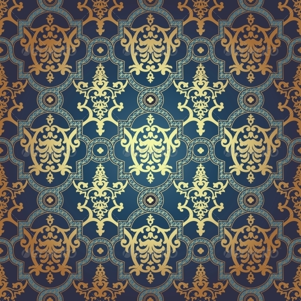 GraphicRiver Seamless Pattern in Mosaic Ethnic Style 6437101