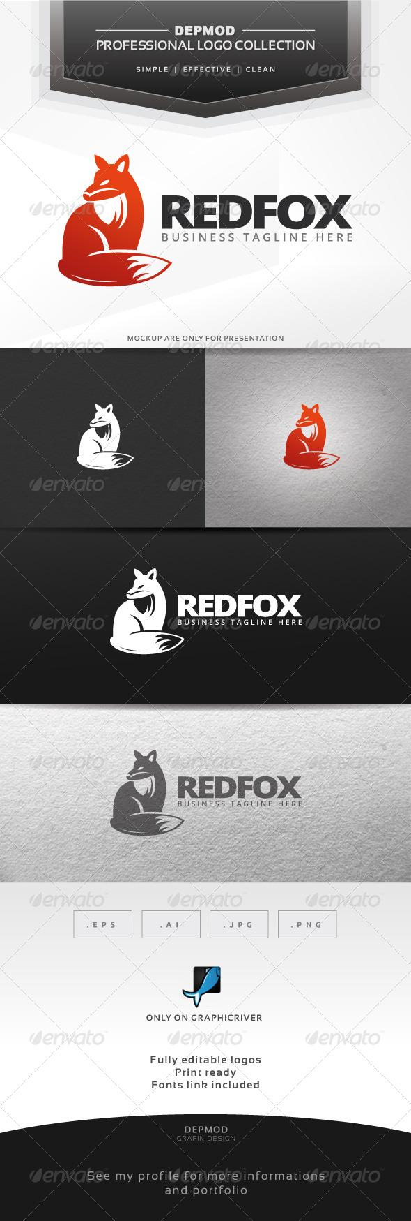 GraphicRiver Red Fox Logo 6437194