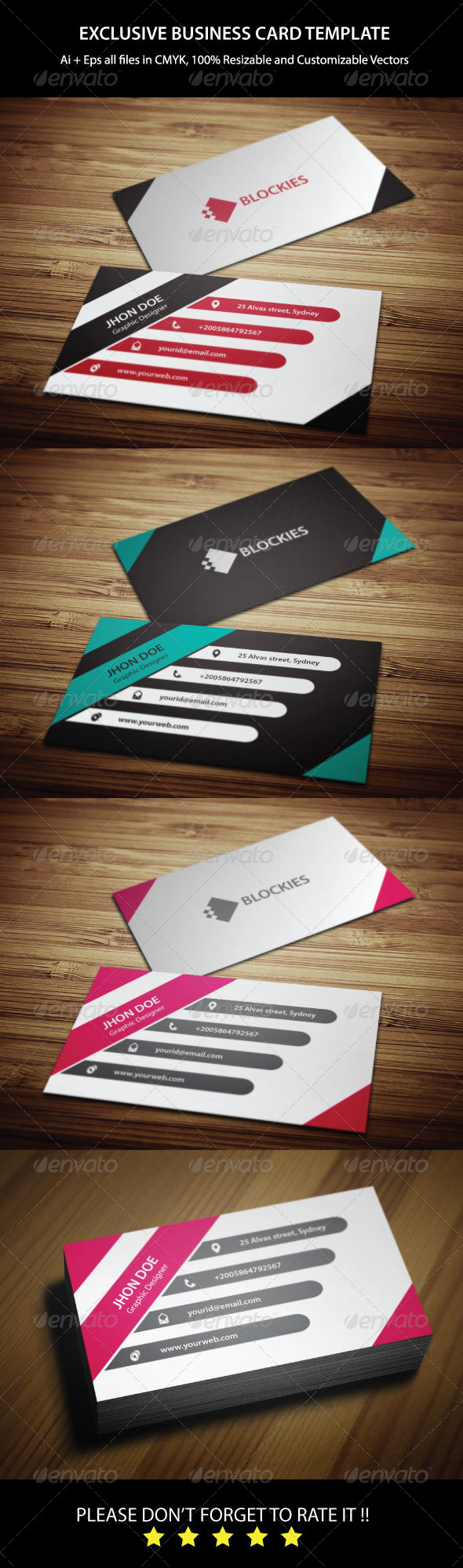 GraphicRiver 3 Colors Corporate Business Card 6437368