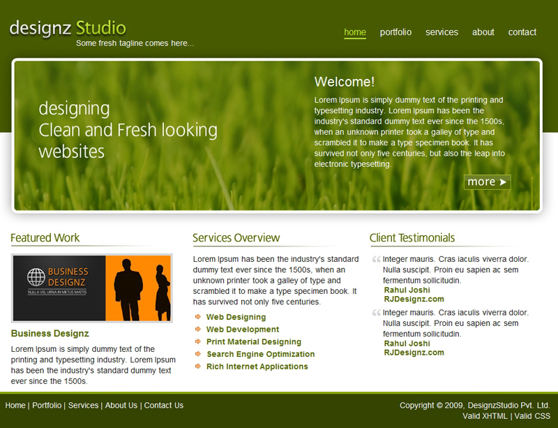 Fresh Green Business Template