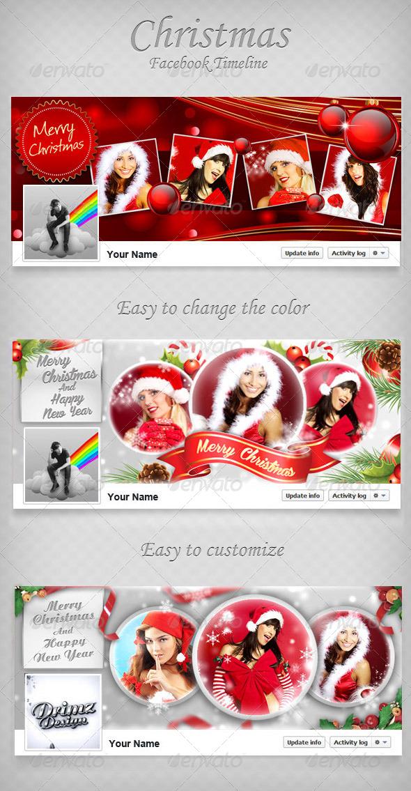 GraphicRiver Christmas FB Timeline Bundle V2 6437714