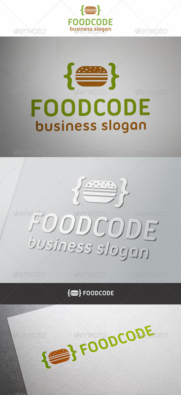 GraphicRiver Food Code Logo 6437724
