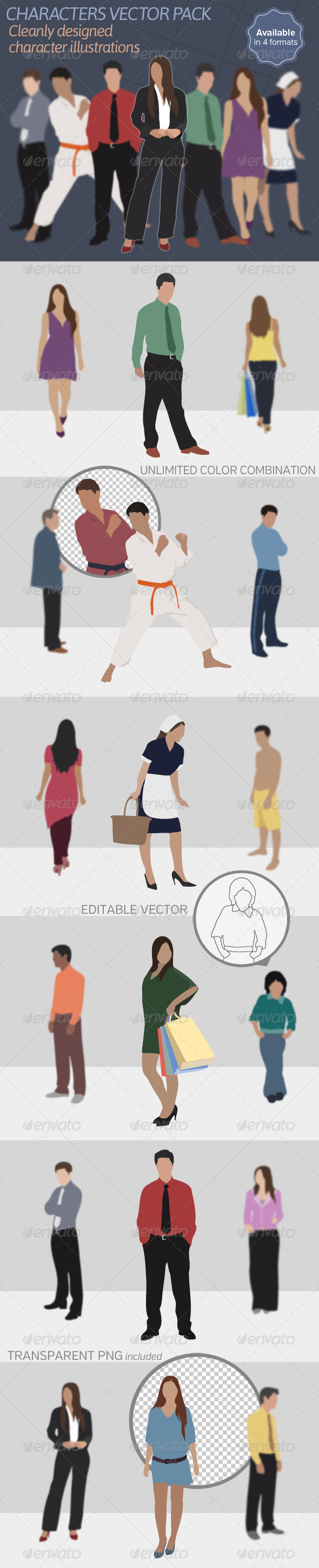 GraphicRiver Characters Vector Pack 6431438
