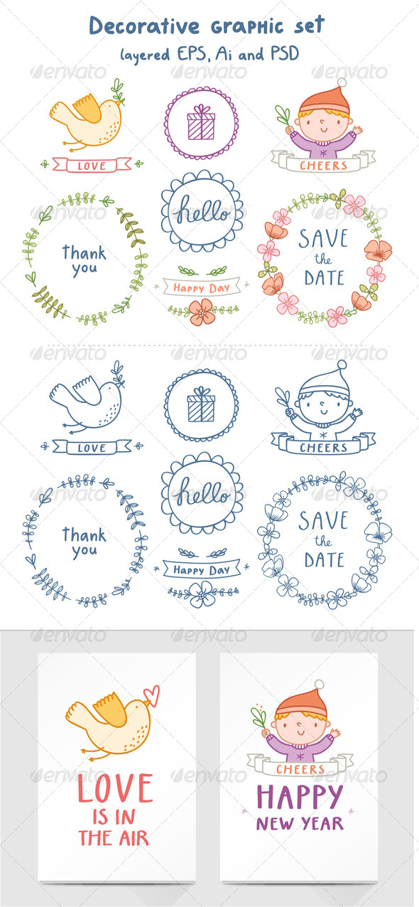 GraphicRiver Decorative Graphic Set 6437788