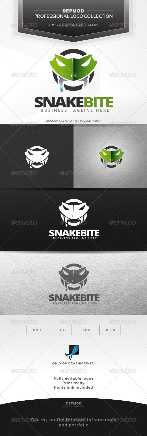 GraphicRiver Snake Bite Logo 6437950