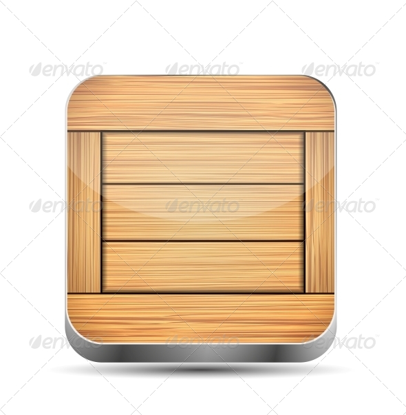 GraphicRiver Wooden App Icon 6438054