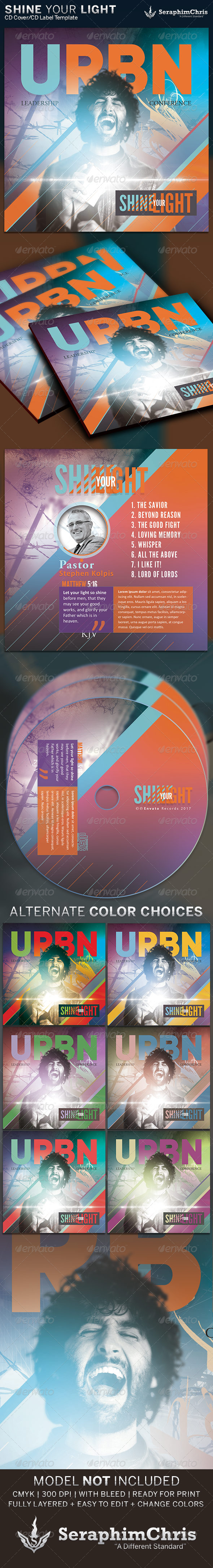 GraphicRiver Shine Your Light CD Cover Artwork Template 6438356