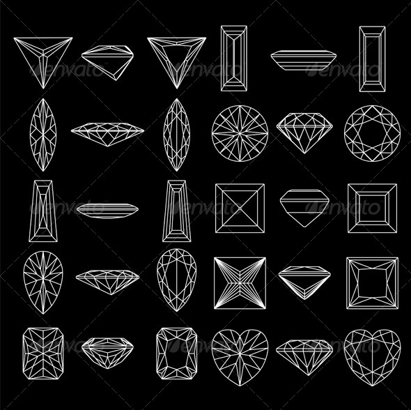 GraphicRiver Shapes of Diamond Collection 6439071