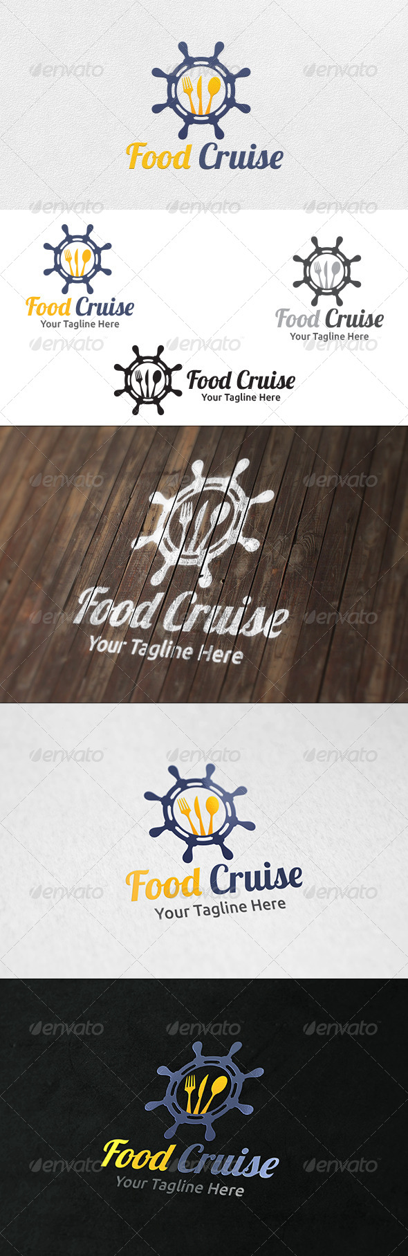 GraphicRiver Food Cruise Logo Template 6439512