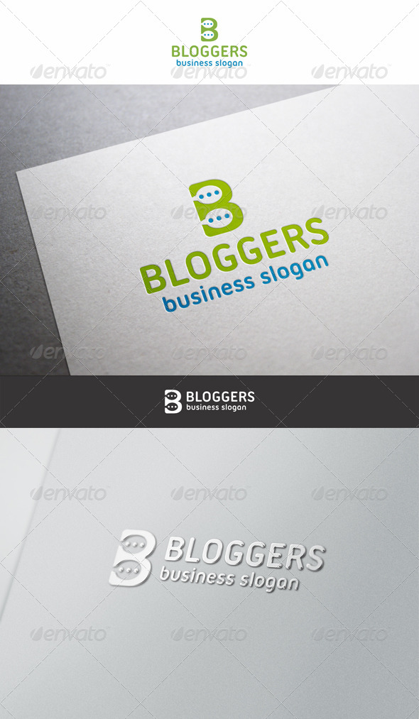 GraphicRiver Bloggers Logo Letter B 6439842