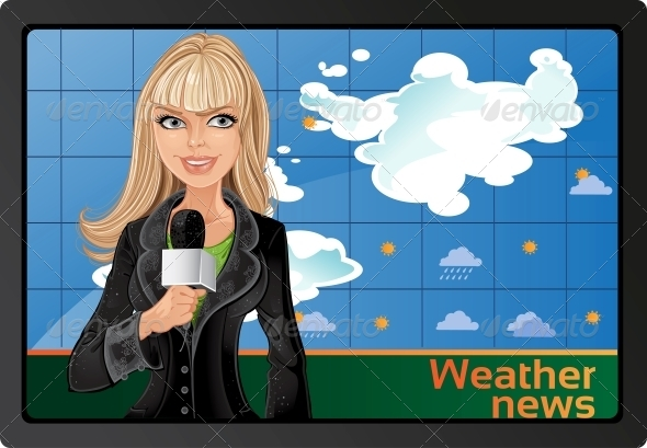 GraphicRiver Blond Girl and Weather News 6439941