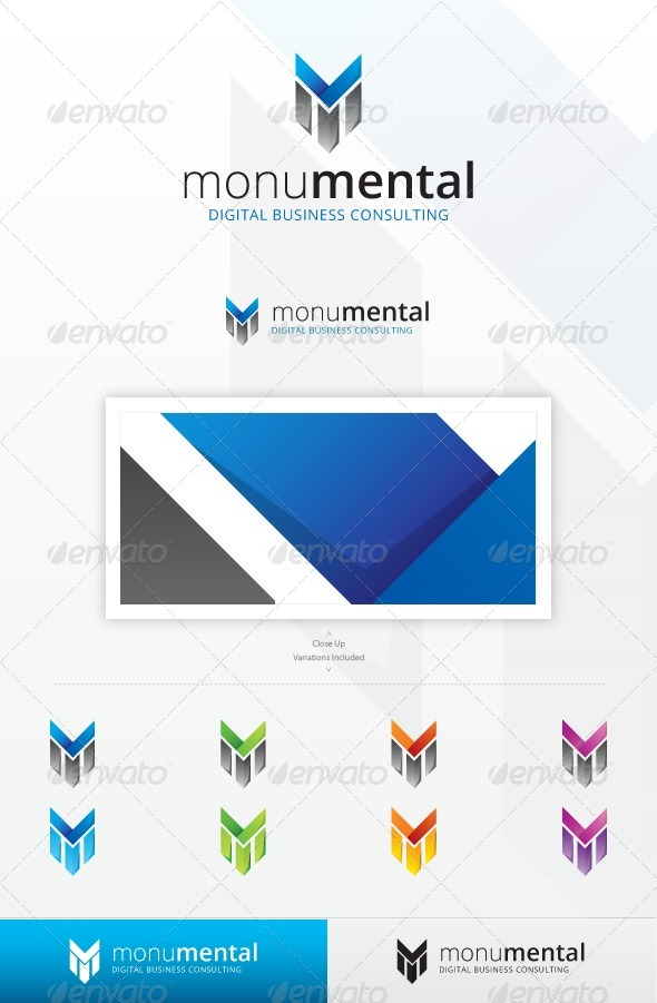 Monumental Logo - Letters Logo Templates