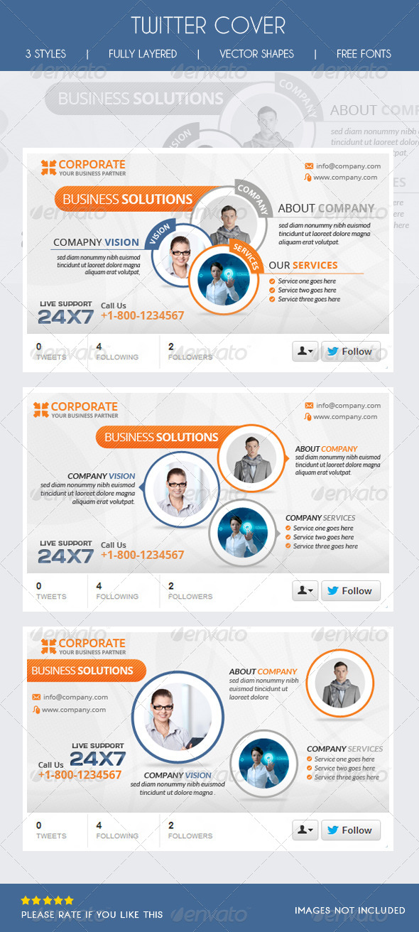 GraphicRiver Corporate Twitter Timeline 6439969