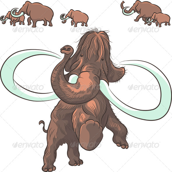 GraphicRiver Herd of Mammoths 6440025