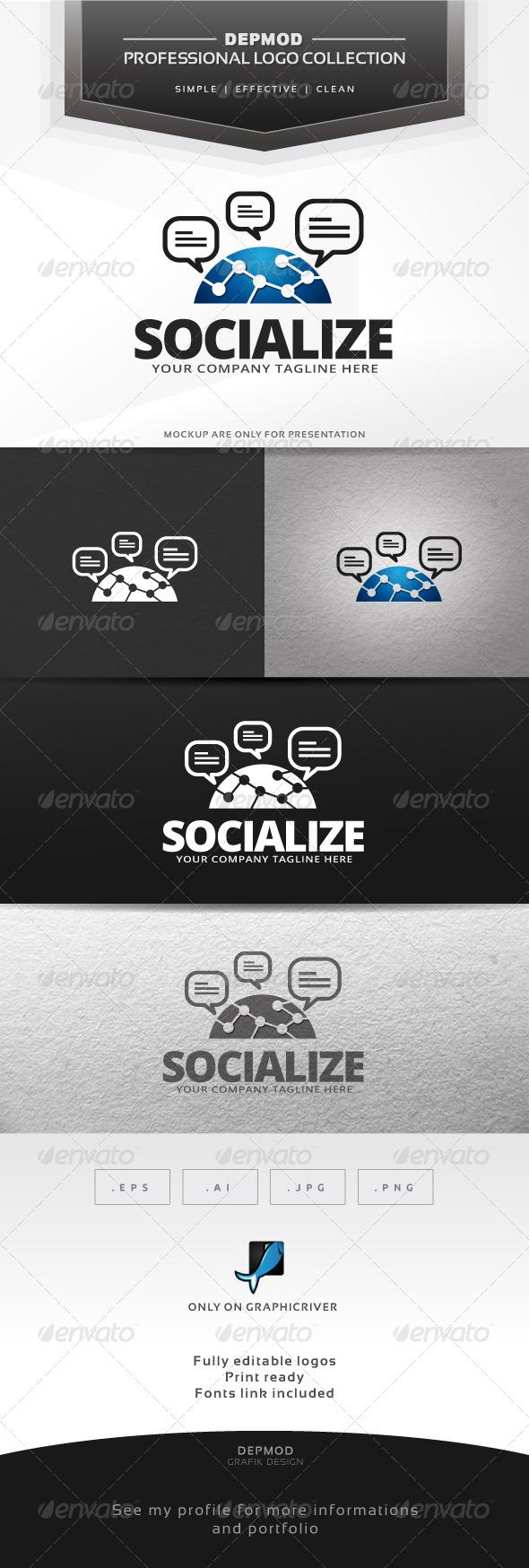 Socialize Logo - Symbols Logo Templates