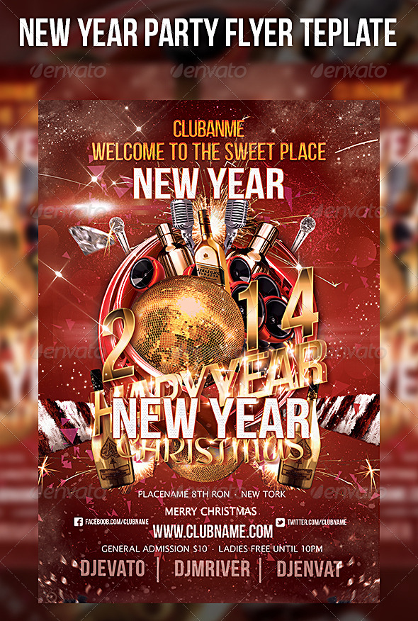 GraphicRiver New Year Start Party Flyer Template 6410506
