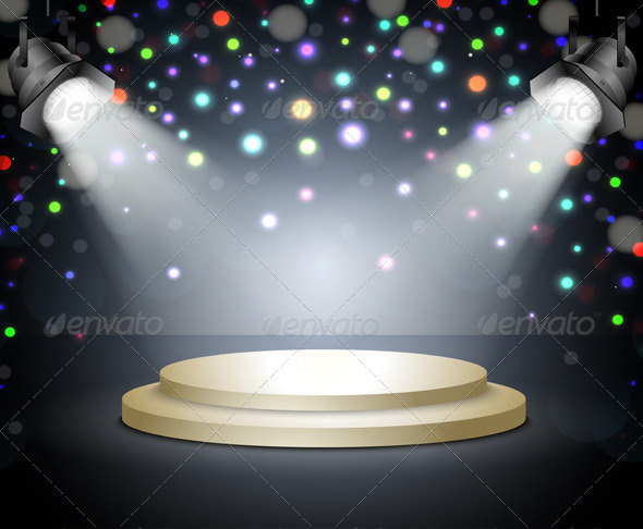 GraphicRiver Podium with Light 6440439