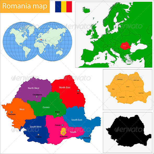 GraphicRiver Romania Map 6440534