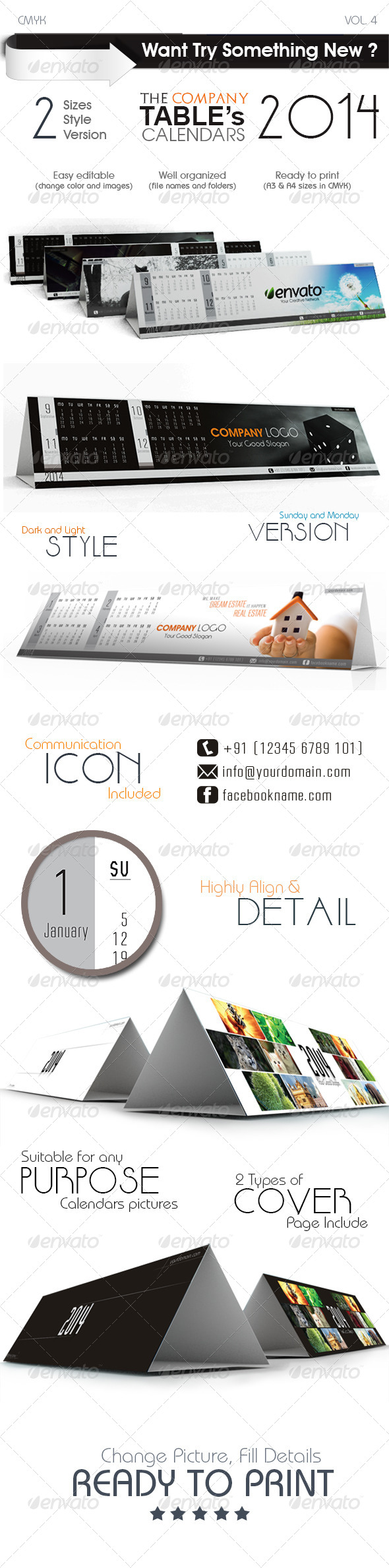 GraphicRiver The Company Table Calendars 6440566
