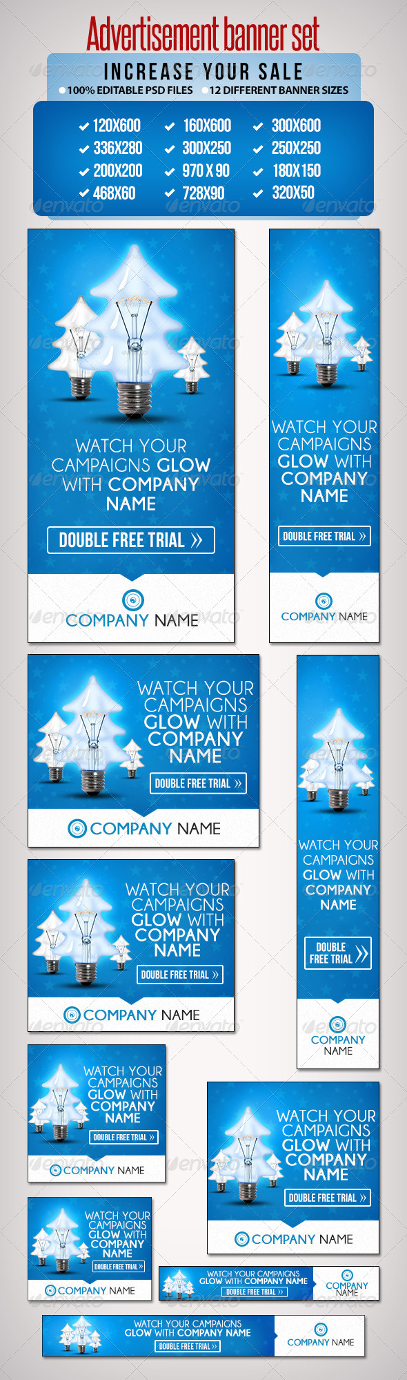GraphicRiver Advertisement Banner Set 1 12 Sizes 6440684