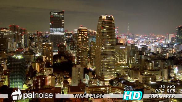 City Night View Tokyo Time Lapse 2
