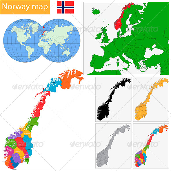 GraphicRiver Norway Map 6440522