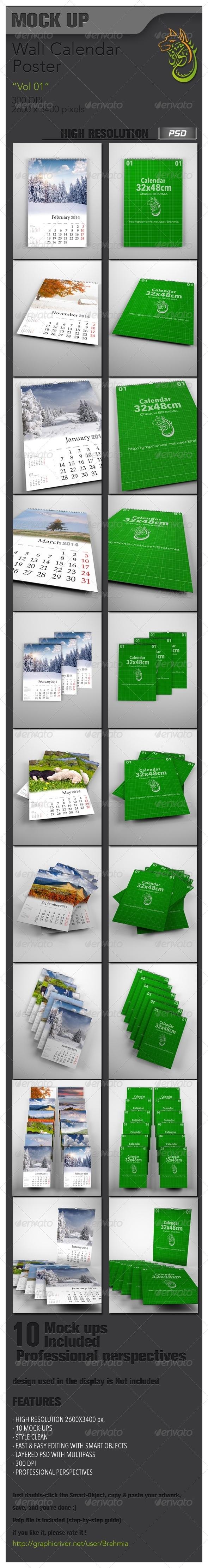 Wall Calendar Mockup Vol 01