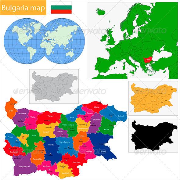 GraphicRiver Bulgaria Map 6440992