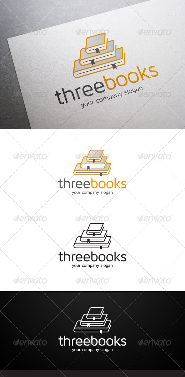 GraphicRiver Three Books Logo 6441011