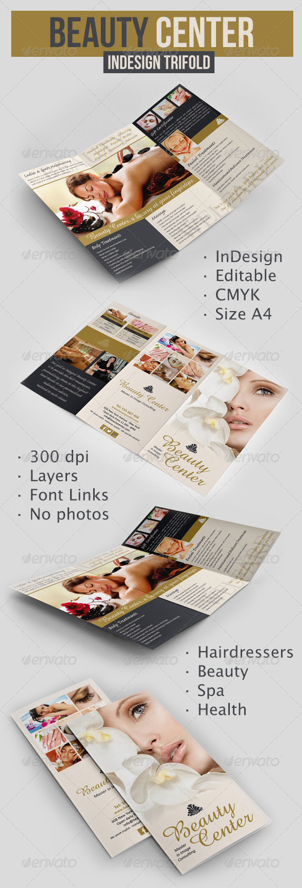 GraphicRiver Beauty Center Trifold 6409904
