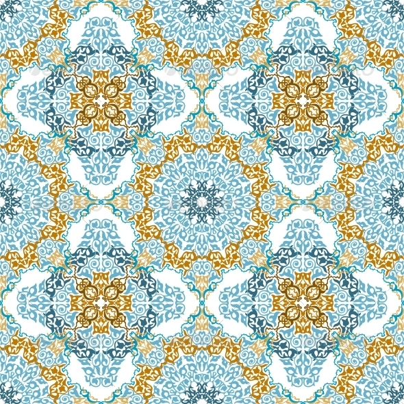 GraphicRiver Seamless Pattern in Mosaic Ethnic Style 6441465