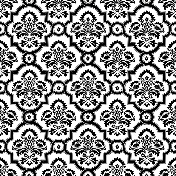 GraphicRiver Seamless Damask Pattern Background 6441532