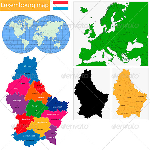 GraphicRiver Luxembourg Map 6441533