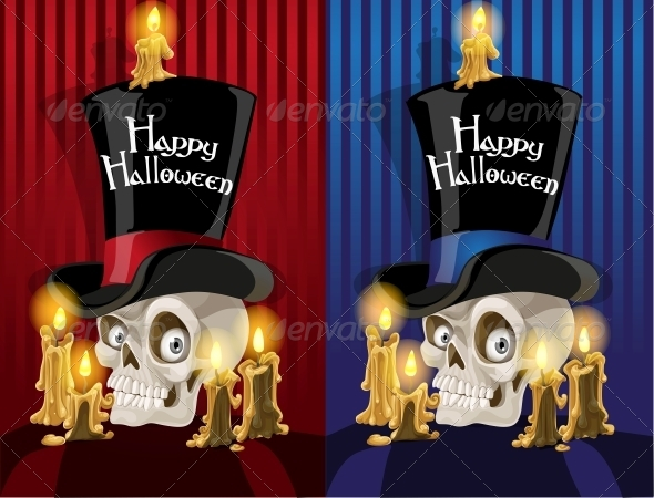 GraphicRiver Banner with a Skull in the Cylinder 6441969