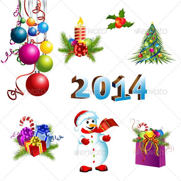 GraphicRiver Christmas Decoration Template Set 6442214