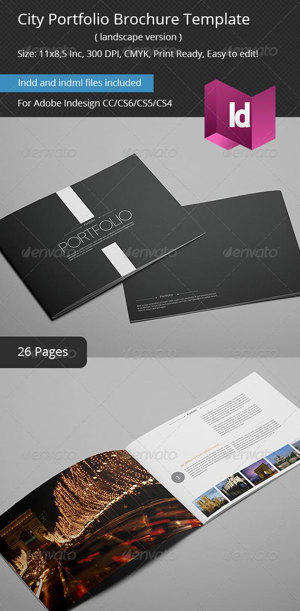 City Portfolio Brochure Template - Portfolio Brochures