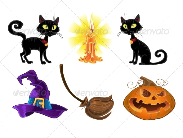 GraphicRiver Halloween Icons 6442466