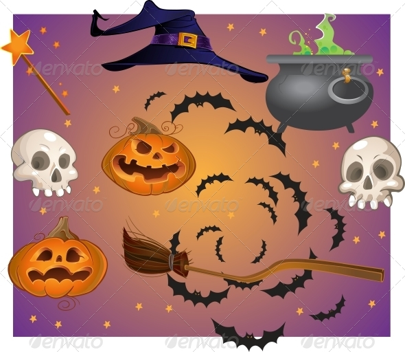 GraphicRiver Halloween Objects 6442472