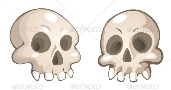 GraphicRiver Vector Cartoon Skulls 6442475