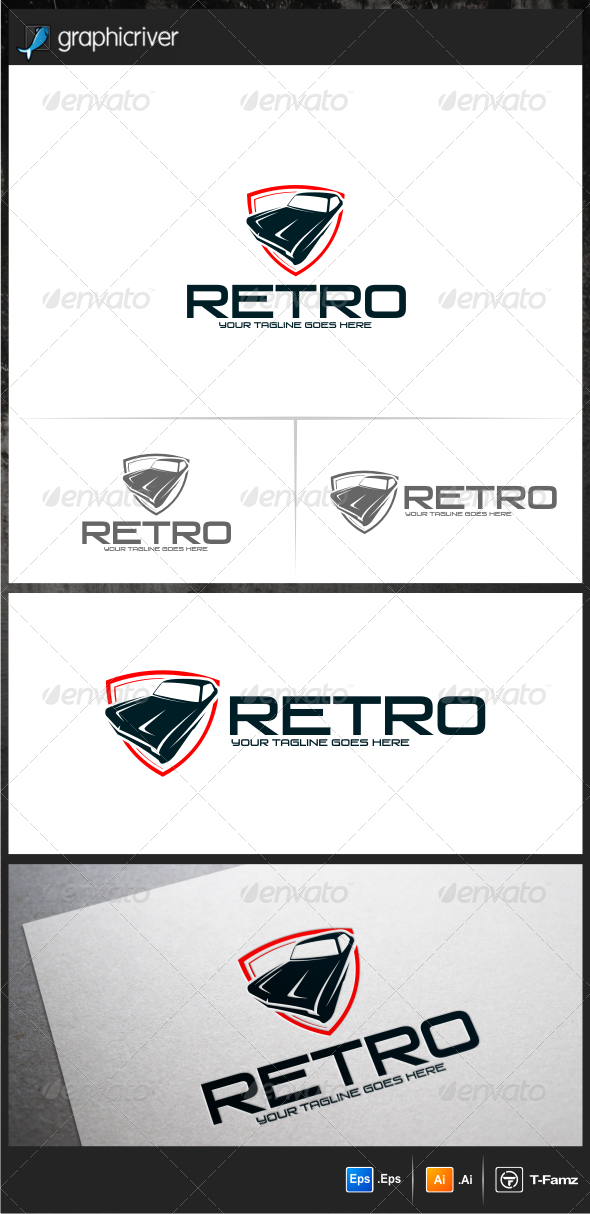 GraphicRiver Retro Logo Templates 6442568