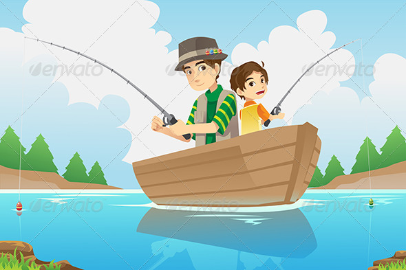 GraphicRiver Father and Son Fishing 6442637
