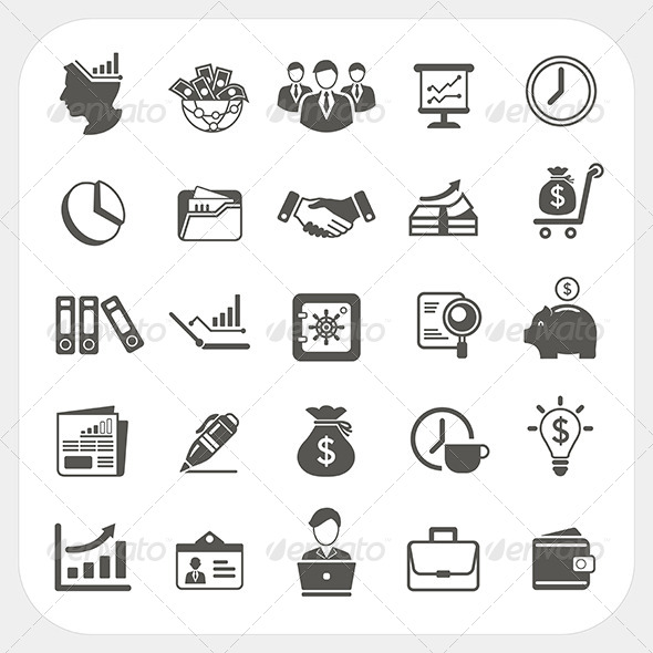 GraphicRiver Business and Finance Icons Set 6442639