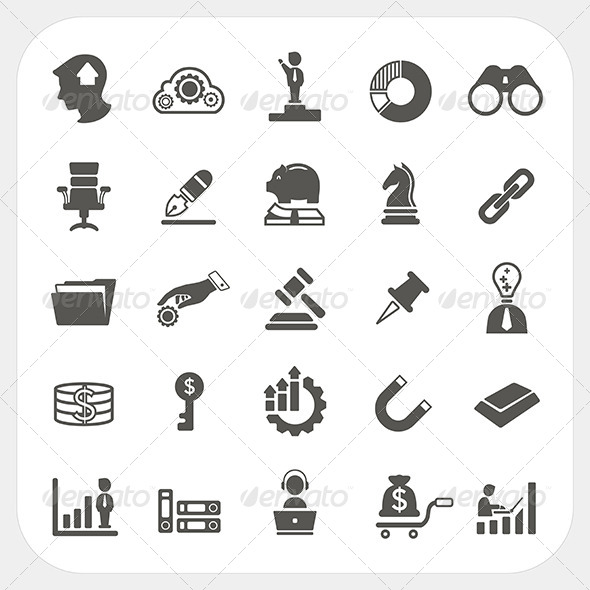 GraphicRiver Business and Finance Icons Set 6442673
